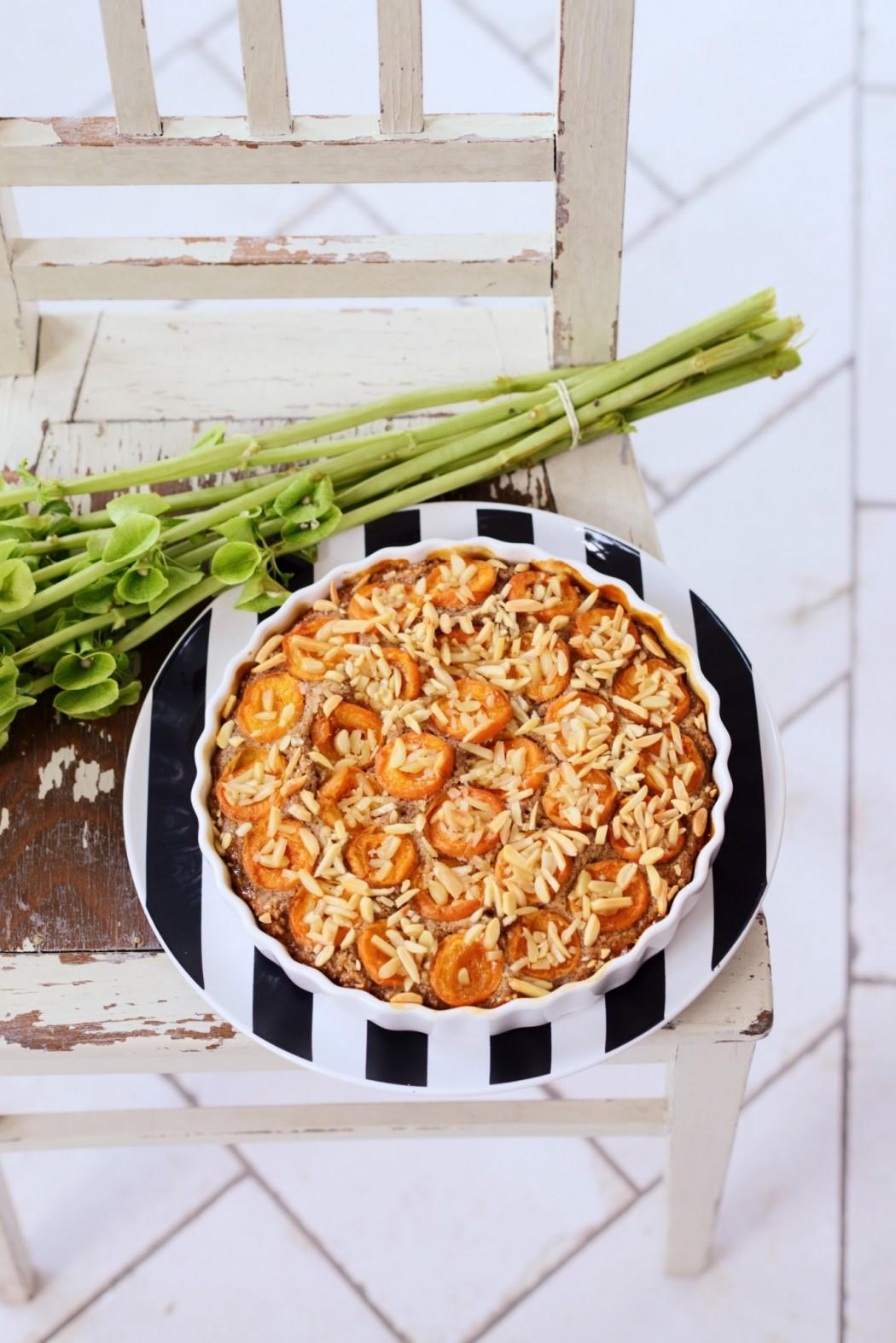 marhulovy koláč s mandlami