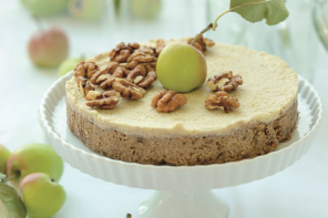 Nepečená jablkovo orechová torta
