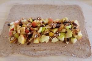 rýchly jednoduchý jablkový závin
